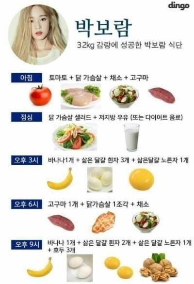 韓国アイドル ダイエット さつまいも